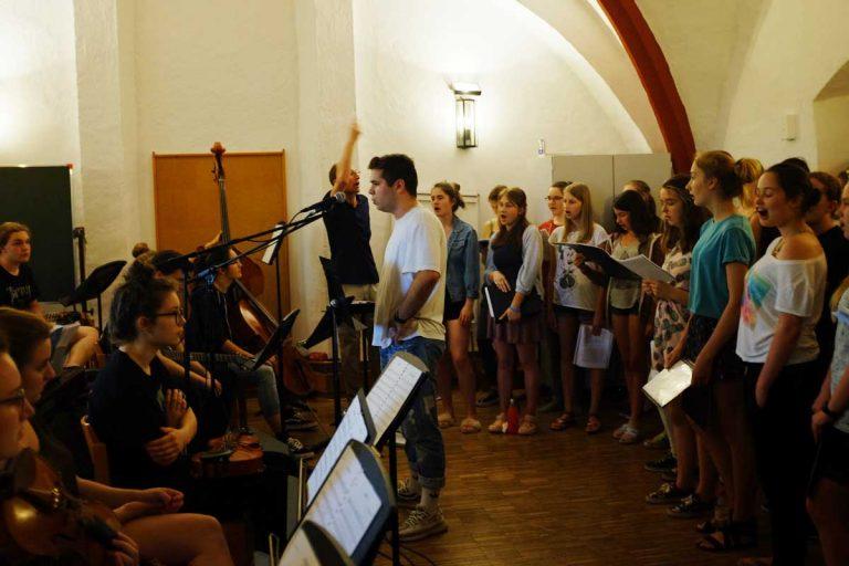 Während der Proben in der Jugendherberge Saldenburg